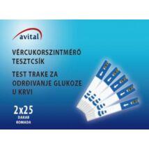 Avital tesztcsík (2x25 db/doboz)
