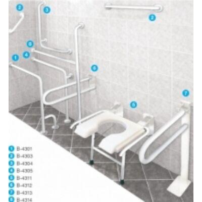 B-4311 falra szerelhető, felhajtható zuhanyzószék
