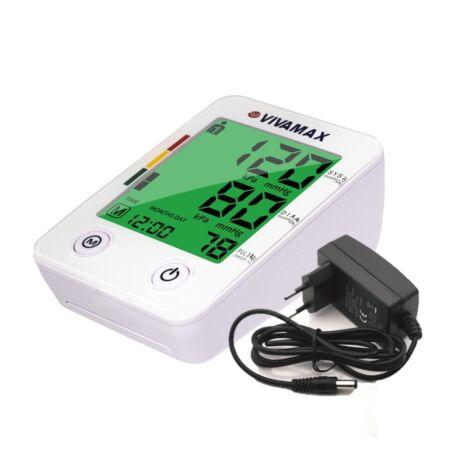 Színes kijelzős felkaros vérnyomásmérő + ajándék adapter