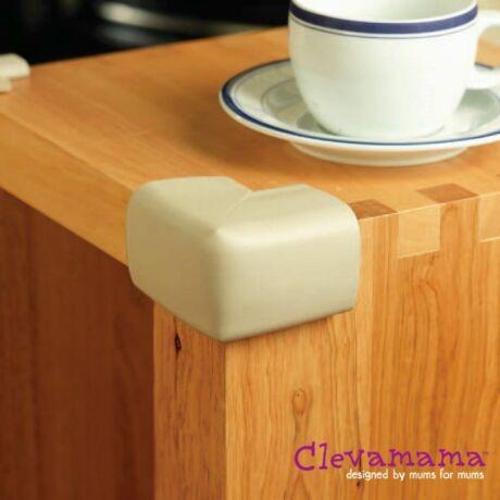 Clevamama sarokvédő bézs színű 4 db + kétoldalú ragasztócsíkok