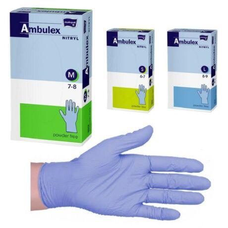 Ambulex gumikesztyű nitril púdermentes