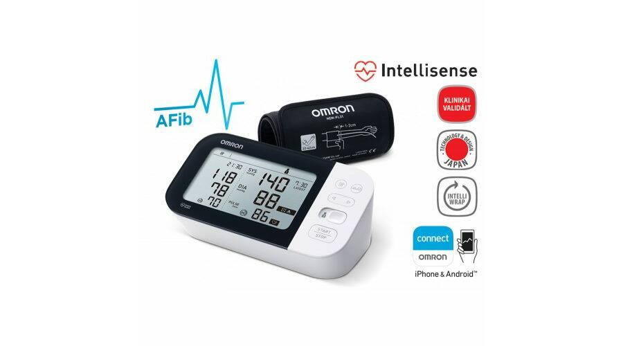 """OMRON M7 Intelli IT """"okos"""" vérnyomásmérő készülék, 36.750.."""